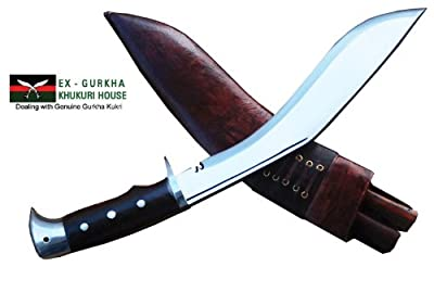 "Authentic Gurkha Kukri Knife - 10"" American Eagle Khukuri or Khukris, Handmade by Ex Gurkha Khukuri House in Nepal by Ex Gurkha Khukuri House"