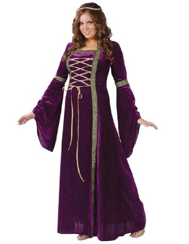 Fun World Costumes Plus-Size Funworld Deluxe Renaissance Lady, Purple, 16W-24W(Plus (Adult Super Deluxe King)