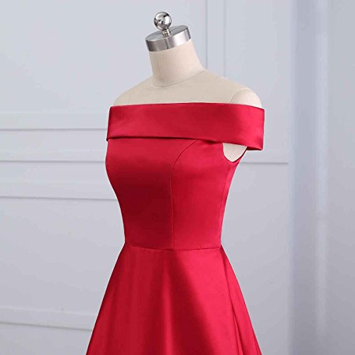 Fuchsica s Changuan Gown Shoulder Dress The Evening Off A Women Prom Line Bridesmaid Strapless Long q5wTa564