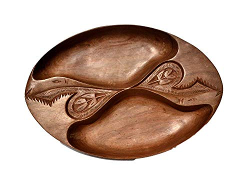 Boulevarte Handmade Wooden Bowl | Carved Walnut Wood Bowl | Dried Fruit Bowl | Antique Decorative Bowl | Designer Bowl Decor | Rustic Vanity Bowl | Length- 15