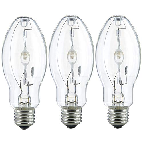 (3 Pack) MH100/U/MED 100W Metal Halide Bulb ED17 Medium Base Clear