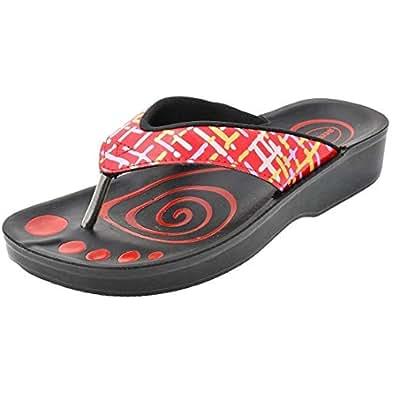 Aerosoft Red Flip Flops Slipper For Women