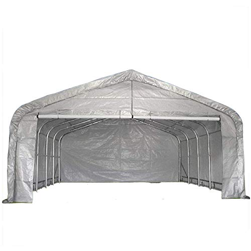 DELTA Canopies 20'x22' Carport Grey/White - Waterproof Storage Canopy Shed Car Truck Boat Garage - By