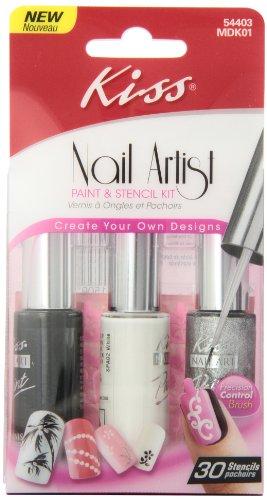 Kiss Nail Artist Manicure Design Kit, (Nail Artist Design Kit)