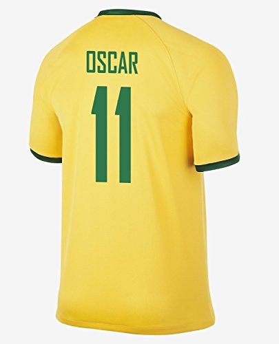 インディカ市区町村振るうNIKE OSCAR #11 Brazil Home Jersey 2014-15/サッカーユニフォーム ブラジル ホーム用 背番号11 オスカル 2014-15