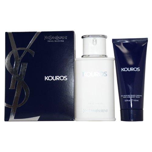 Yves Saint Laurent Kouros 2 Piece Gift Set for Men (Eau de Toilette Spray Plus Hair and Body - Jasmine Perfume Kouros