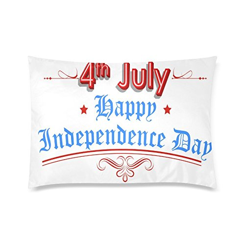 American Independence Day 4th of July Rectangle Sofa Home Decorative Throw Pillow Case Cushion Cover Cotton Polyester Twin Side Printing 20 x 30 inches