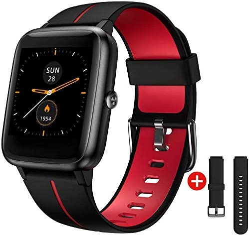 """UXD Smart Watch GPS for Men Women,1.3"""" Full Touch Screen Fitness Trackers with Heart Rate/Sleep Monitor,5ATM Waterproof Pedometer Stopwatch Weather Smartwatches for Android iOS iPhone Samsung"""