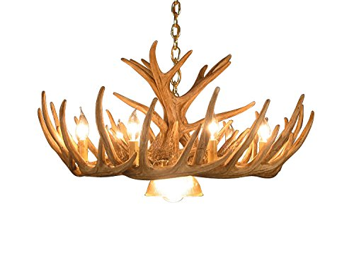 Rustic Whitetail Deer 12 Antler Cascade Chandelier with 9 Lights by Muskoka Lifestyle Products