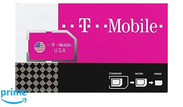 Estados Unidos de América Tarjeta SIM prepagada con 50GB 4G/LTE de Datos, Unlimited National Talk & Text en USA. Atar a velocidades máximas de 3G ...