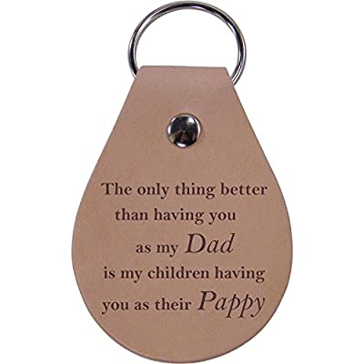 CustomGiftsNow Only Thing Better Than Having You as My Dad is My Children Having You as Their Pappy - Leather Key Chain: Automotive
