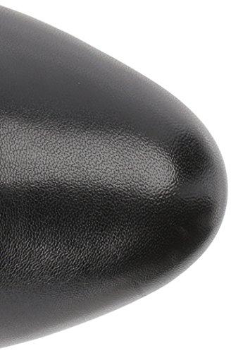 Negro Piel Bandolino Almendra Botas Ancha Caña Lamari Calf De Wide Talla Punta Mujeres Moda HqOTH8xZ