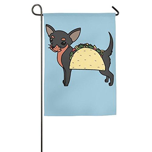 Chihuahua Dog Garden Flag - YUHO-MY Chihuahua Taco Dog Garden Flag Garden Decor 12