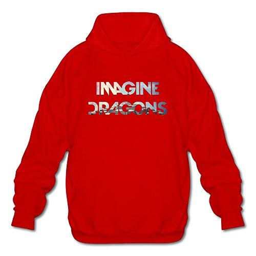 RIDA Imagine Dragons Night Visions Hoodie For Men X-Large Red
