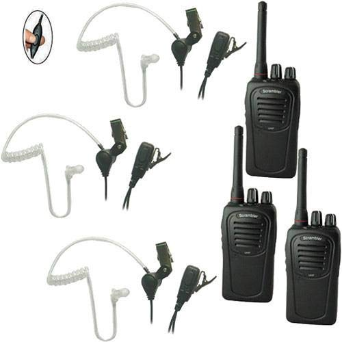 Eartec SC-1000 3-User Two-Way Radio System with 3X SST Lapel Mic Headsets -