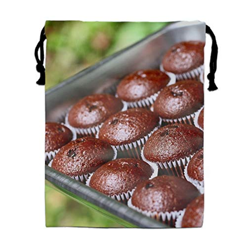 Drawstring Bags Favors for Kids Fruitcake Chocolate Batch Form Design Backpack Rucksack Shoulder Bags Gym Bag, Arts & Crafts Activity