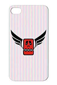 Totem Red Anti-drop Cool Monster Art Design Death Fly Plastikman Wing Fear Illustration Wings Style Cover Case For Iphone 4s