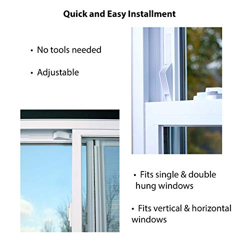 Window Wedge, Adjustable Window Stop Secures Window for Added Child Safety and Better Home Security (4 Total, 2 Two Packs) by Window Wedge (Image #3)