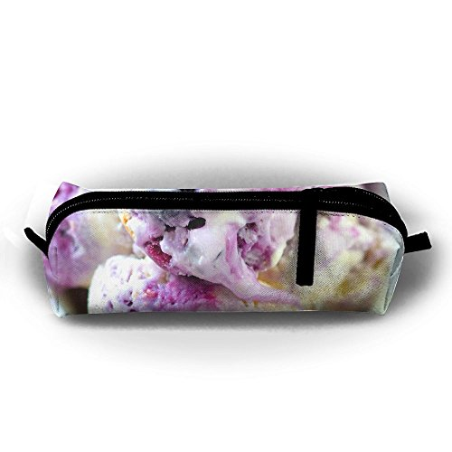 Blueberry Cream Cheese Ice Cream Zipper Travel Cases Makeup Handbag Resistance Carrying Handle Cosmetic Hanging Bag Accessories Toiletries Pouch Power Lines Documents Bag