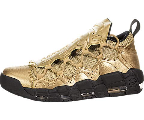 - Nike Men's Air More Money Metallic Gold/Metallic Gold/Black Leather Cross-Trainers Shoes 11 M US