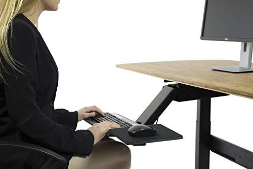 - KT2 Ergonomic Under-Desk Keyboard Tray w/ Large Adjustable Height Range + Negative Tilt best sit stand standing desk computer stand holder drawer shelf pull slides out sliding angle swivels 360