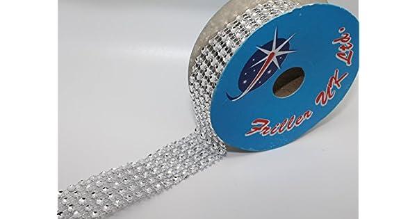Amazon.com: Diamante Efecto Ribbon (5 filas) 2 m x 25 mm ...