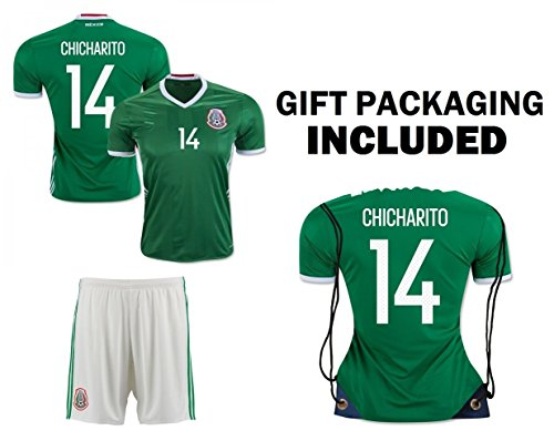 0f9c26f2445 The shirt JerzeHero Mexico Chicharito 14 Kids Youth 3 in 1 Soccer Gift Set  ✓ Soccer Jersey ...