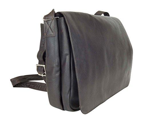 Latico Leathers Heritage Laptop Large Messenger, Authentic Luxury Leather, Designer Fashion, Top Quality Leather,  Cafe, by Latico (Image #2)