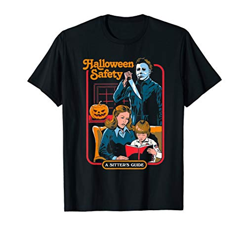Funny-Halloween-Safety-A-Sister's-Guide-Michael-T-Shirt ()