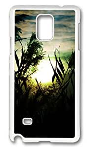 MOKSHOP Adorable Fascinating sunset scenery Hard Case Protective Shell Cell Phone Cover For Samsung Galaxy Note 4 - PC White