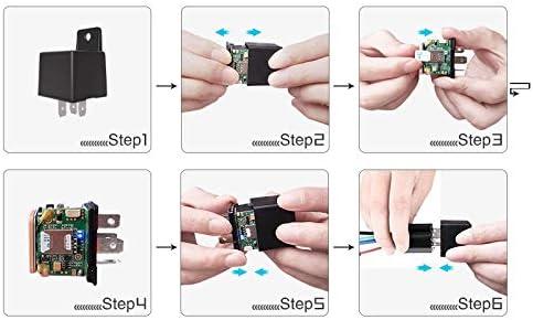 color tree Mini Localizzatore GPS Localizzatore dispositivo di localizzazione Monitoraggio in tempo reale del rel/è//Avviso di velocit/à eccessiva//Avviso di interruzione dellalimentazione principale