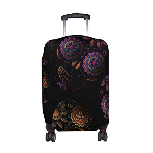 Sugar Skull Dia De Los Muertos Travel Luggage Protector Baggage Suitcase Cover Fits 26-28 Inch Luggage