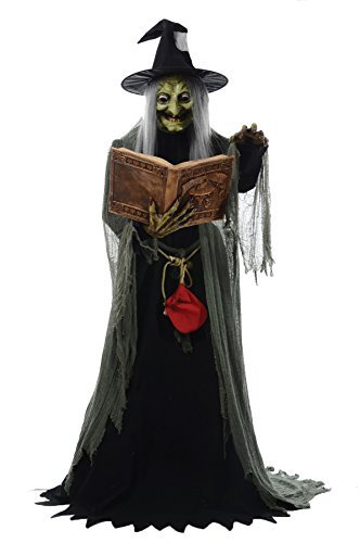 Spell Speaking Witch Animated Prop Halloween Haunted House MR124250 by Mario Chiodo