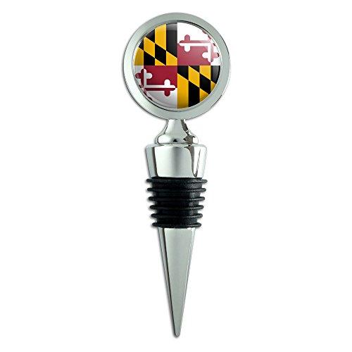 Maryland State Flag Bottle Stopper