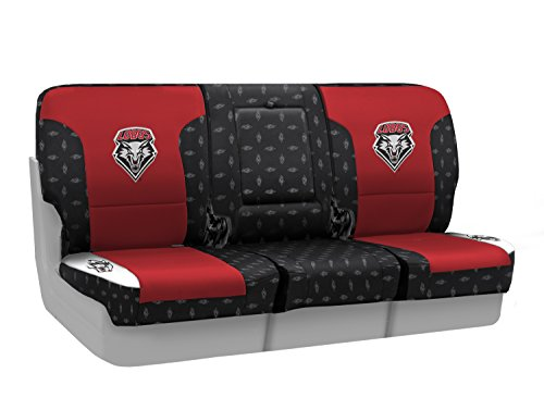 Coverking Custom Fit Front 40/20/40 NCAA Licensed Seat Cover for Select Nissan Titan Models - Neosupreme (University of New Mexico) by Coverking