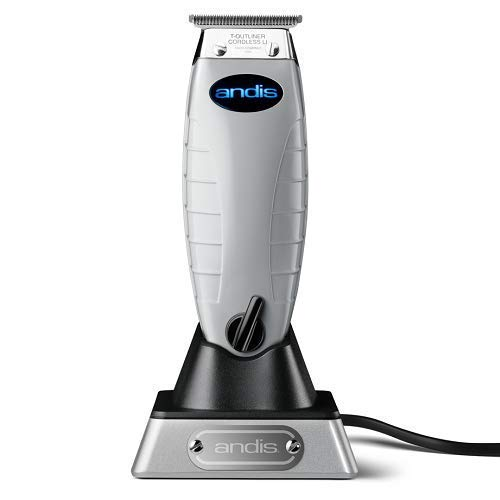 Professional All-in-One Lightweight Cordless Multigroom Turbo-Powered T-Outliner Trimmer with 4 Attachment Combs