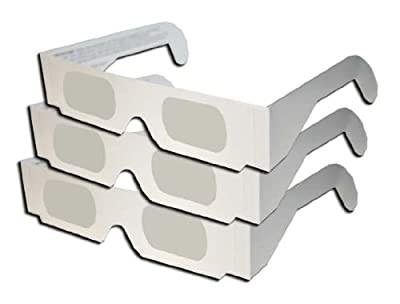 Eclipse Glasses Shades - Safe for Solar Eclipse Viewing - CE Certified - All White - Really Kool Color