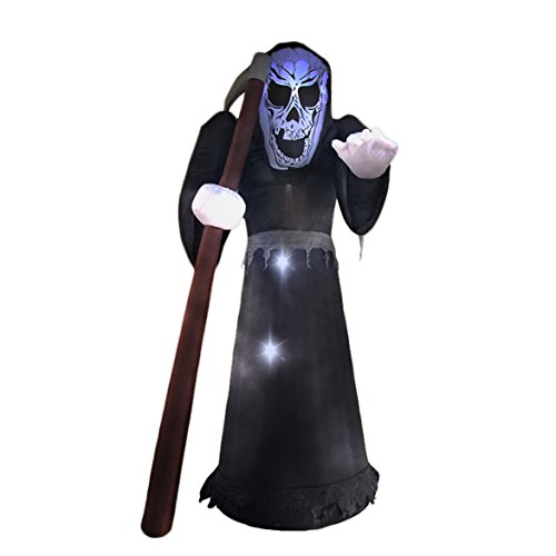 8 Ft Halloween Inflatable Reaper Ghost Decoration Lantern for Home Party Garden Yard Lawn Indoors Outdoors