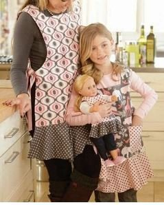 Indygo Junction Dressed Alike Apron Sewing Pattern for Mother, Daugher & 18