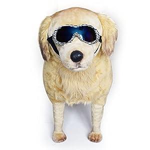 dual purpose scratch proof dog goggles for medium large anti uv puppy doggy glasses & Unisex windproof outdoor bike sunglasses with resist amblyopia photaesthesia uv protective anti fog skiing eyewear
