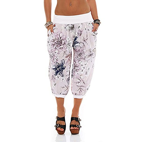 Adult Dance Sweatpant - Adeliber Women's Shorts Summer Fashion Printing Band Width Loose Pants Bandwidth Loose Pants Sweatpants White