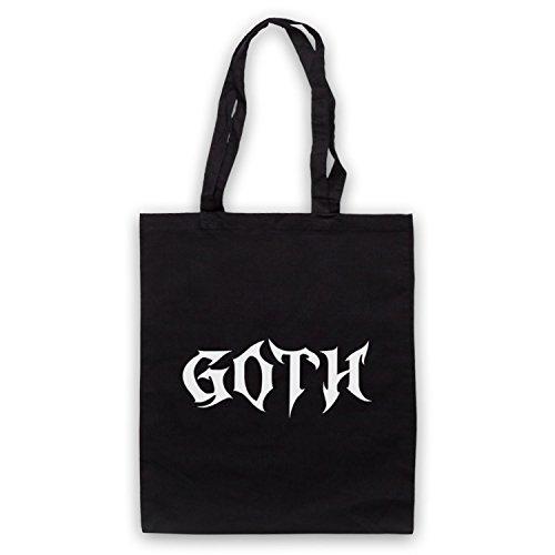 Goth Slogan Style Bolso Negro