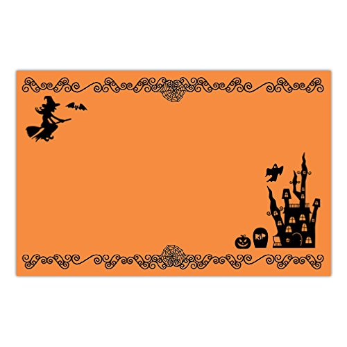 DB Party Studio Paper Placemats Pack of 25 Halloween Parties Adult or Child Classic Spooky Haunted House Teen Kids Costume School Party Lunch Dinner Disposable Easy Cleanup 17