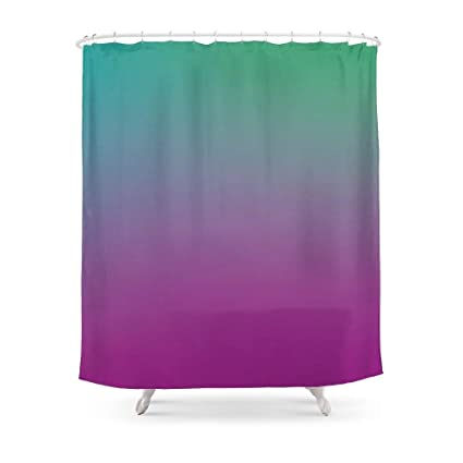 MAOXUXIN Purple Green Turquoise Gradient Pattern Shower Curtain 60quot