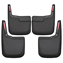 Husky Liners 58446 Black Custom Mud Guards Front and Rear Mud Guard Set Fits 2015-2019 Ford F-150 WITHOUT OEM Fender Flares 4 Pack