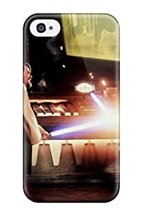 Waterdrop Snap-on Young Darth Vader Vs Obiwan Movies George Lucas Force Jedi Yoda People Movie Case For Iphone 4/4s
