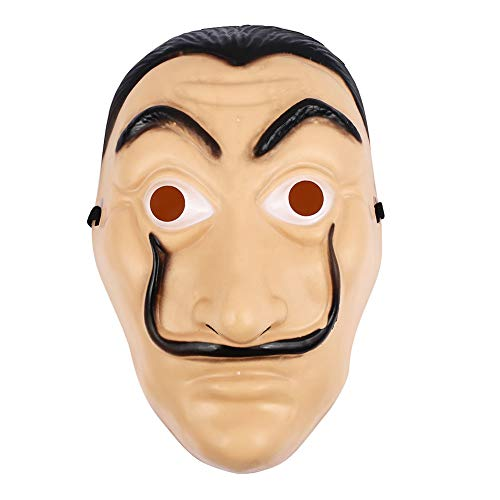 VESSOS Home Headgear Facepiece Environmental Plastic Halloween Toys for La Casa De Papel Party DIY Decoration