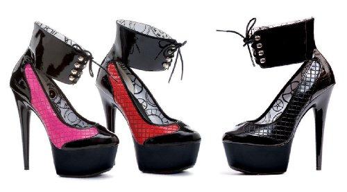 Ellie Shoes Affair lace Up Ankle Cuff Platform Pump Fuchsia ypPySB