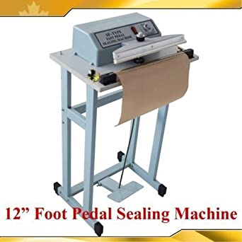 """110V 12/"""" Foot Pedal Impulse Sealer Heat Seal Machine Plastic Bag Sealing Tool"""