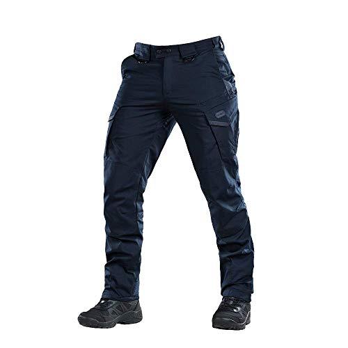Aggressor Flex - Tactical Pants - Men Cotton Cargo Pockets (Navy Blue, XL/R)